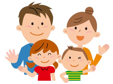 5801. Family of four, upper body