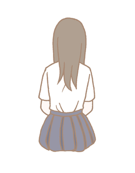 Back view girl
