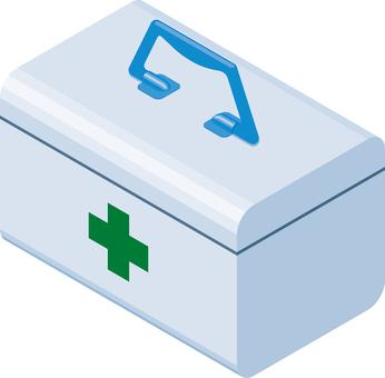First-aid kit emergency setting