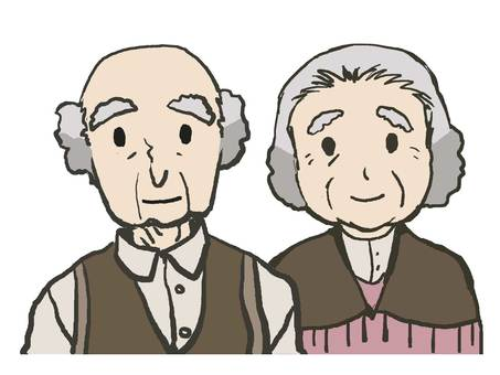 Elderly man and woman (easy)