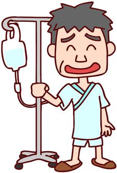 住院病人的插圖