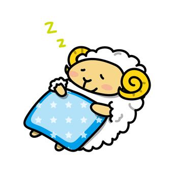 Sheep sleeping in sheep