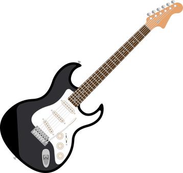 Electric guitar black