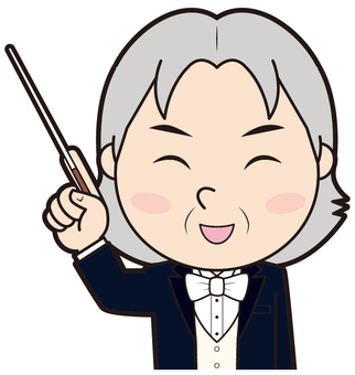 Fingering male conductor (smile)