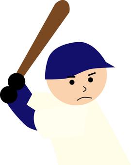 High school baseball batter