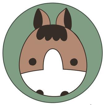 말의 아이콘 _ 시카 게 _ 표준