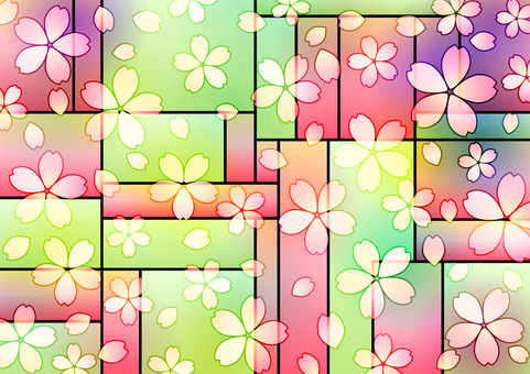 Cherry stained glass style background