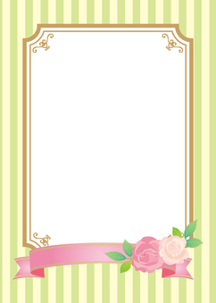 Roses and ribbon frames A4 size