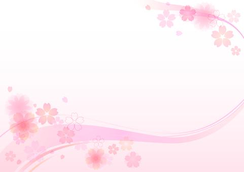 Cherry blossom material 147