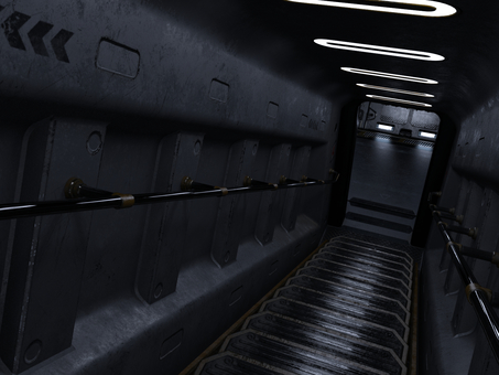 宇宙船内の通路(階段)