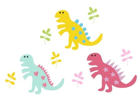 Dinosaurs Tyrannosaurus colorful set