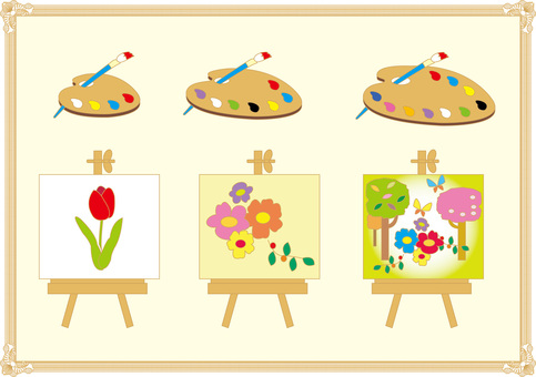 Painting Palette Painting Brush Painting Art Museum Art Fall Background