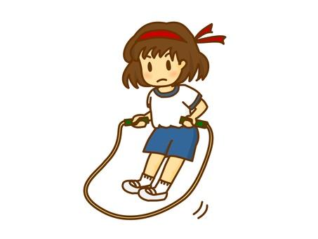 練習跳繩的女孩