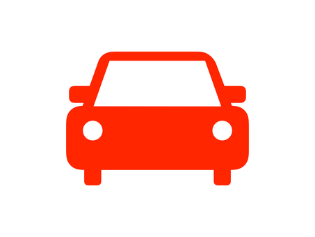 Car Vehicle Silhouette Red