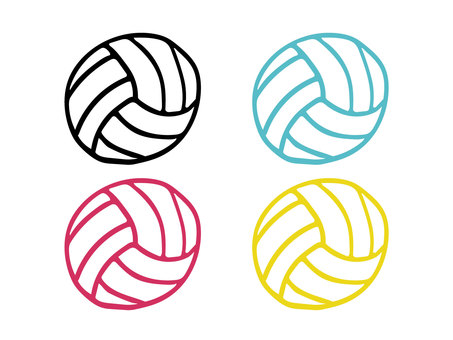 Hand-painted volleyball