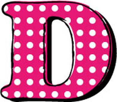 Dotted alphabet D