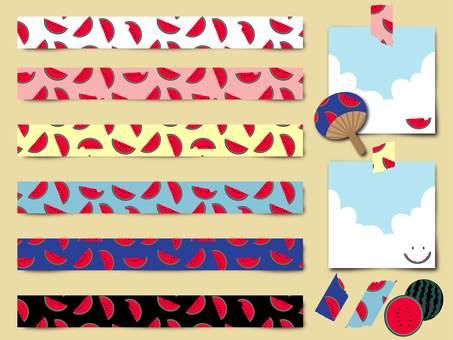 Watermelon pattern swatch tape