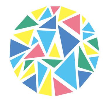 삼각으로 된 원형