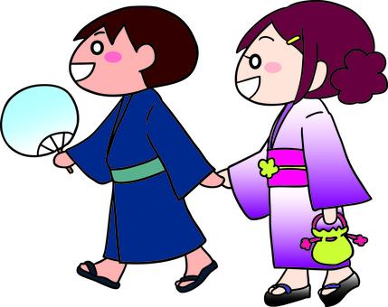 Dating in a yukata