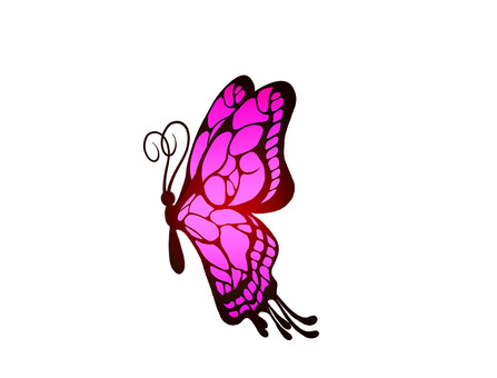 Butterfly _ pink (horizontal)