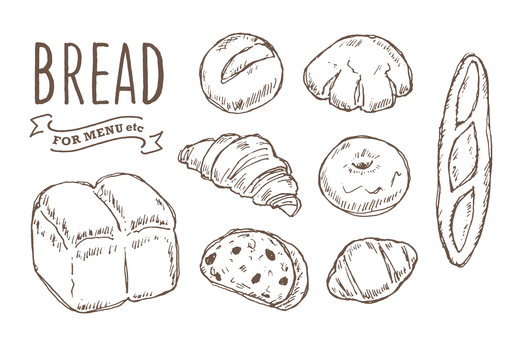 Various bread handwriting
