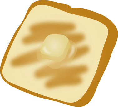 Put the toasted butter