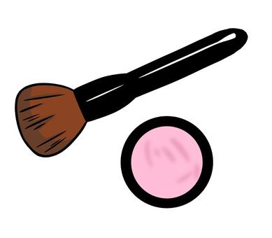 Brush and eye shadow