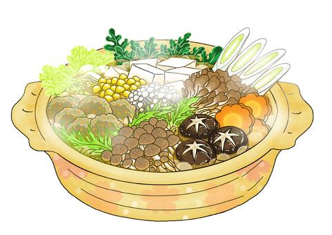 Mushrooms full of hot pot