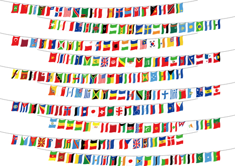 World Flag Set Athletic Event Sports Festival