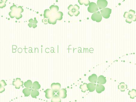 Clover frame / green