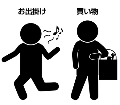 Outing / Shopping Pictogram