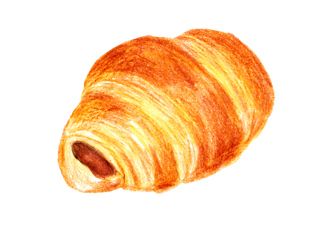 Croissant 05 (color pencil drawing)