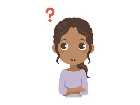 B382_black woman_ lost