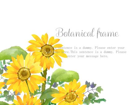 Sunflower frame 08