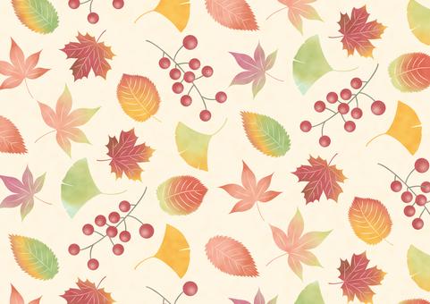 秋の葉っぱの背景パターン