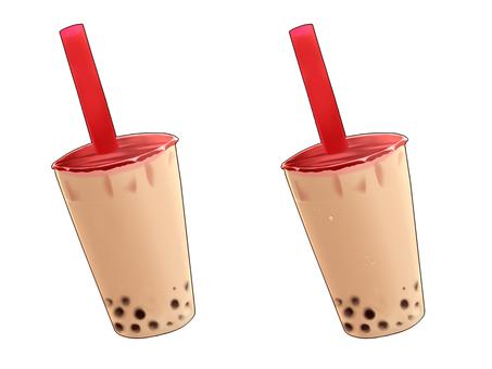 Tapioca milk tea (with border)