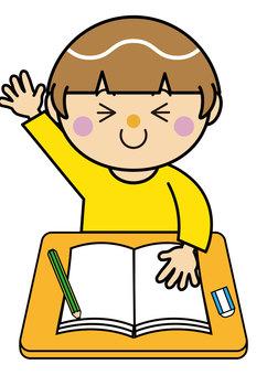 女孩13_10(學習,舉手)