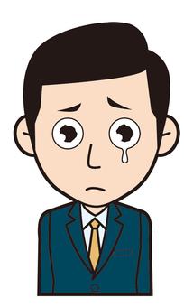 Male employee (crying)
