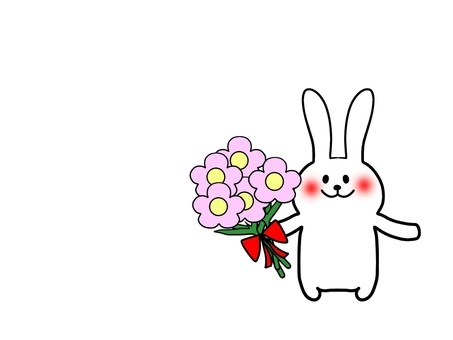 Flowers and rabbits 2