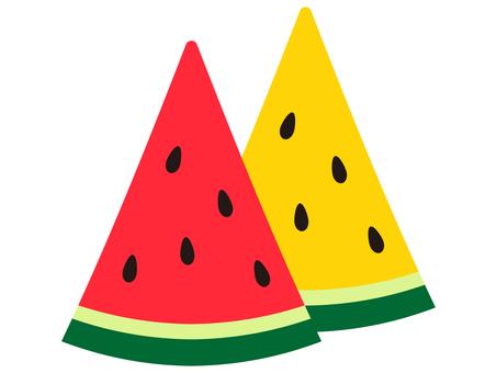 삼각 수박 이색