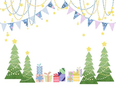 Winter frame christmas tree
