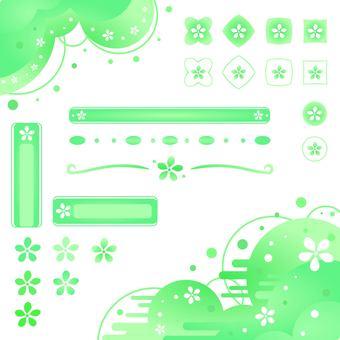 꽃 * 녹색 세트