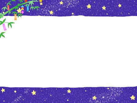 Night image memo pad · frame (Tanabata)