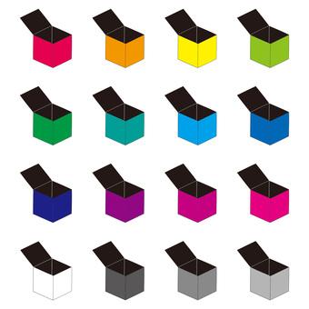 Empty box inside black color set
