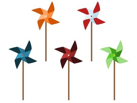 풍차 5 색