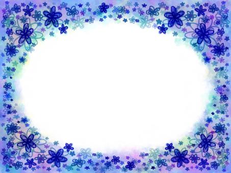 Blue flower frame 3
