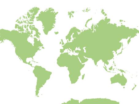 世界地図[4]ベクター素材