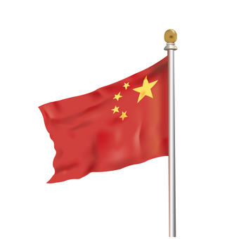 Chinese flag illustration