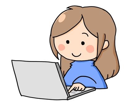 PC PC working girl