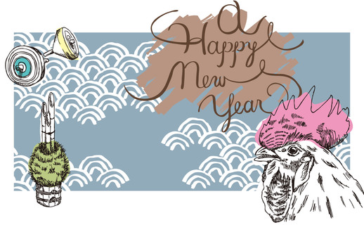 Hand-painted New Year's cards 1